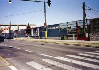2006 – Ansicht der Lärmschutzwand von der Brünner Straße aus