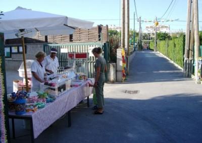 2006 – Beim Lichterfest gab es auch Süßigkeiten zu kaufen