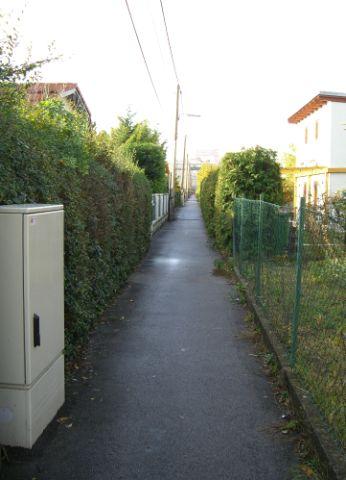 2009 – Blick vom westlichen Teil der Gruppe 5 (Weg 5) in Richtung Brünner Straße