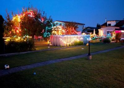 2010 – Bunte Lichter illuminieren abends die Gärten beim Lichterfest