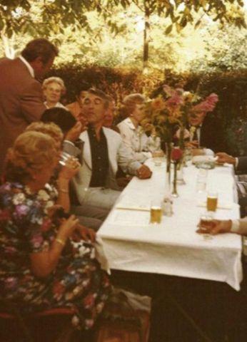 1969 - 60-Jahr-Feier des Vereines. Obmann Stipanitz im Gespräch mit dem Ehrengast Stadtrat Dr. Zilk, dem späteren Bürgermeister