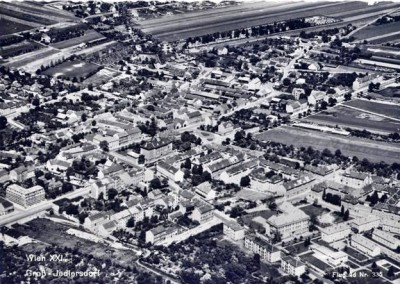 Groß Jedlersdorf um 1958. Links unten ein Teil der Anlage (Gruppe 5 und 6)