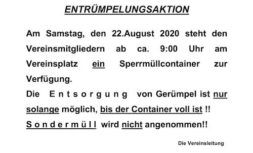 KGV Grossjedlersdorf - Flohmarkt 2020